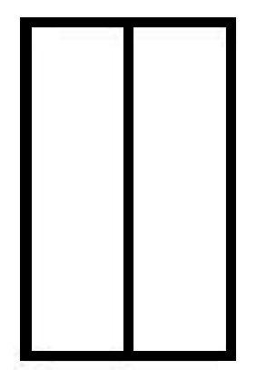 La verrière simple composée d'une ou plusieurs travées qui sont des cloisons vitrées verticales.