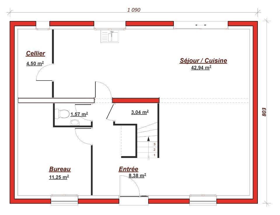 Maison neuve à Montlignon (95680)