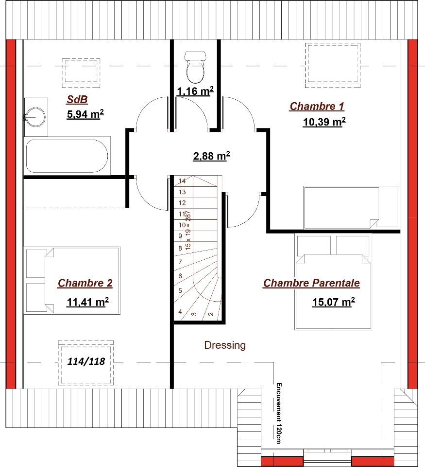 Maison neuve à Andilly (95580)