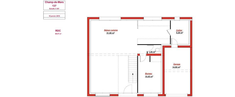 Maison neuve à Bois-d'Arcy (78390)