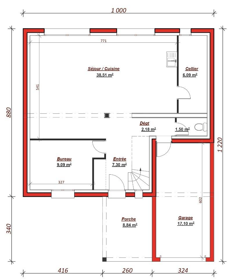 Maison à construire à Chaumontel (95270)