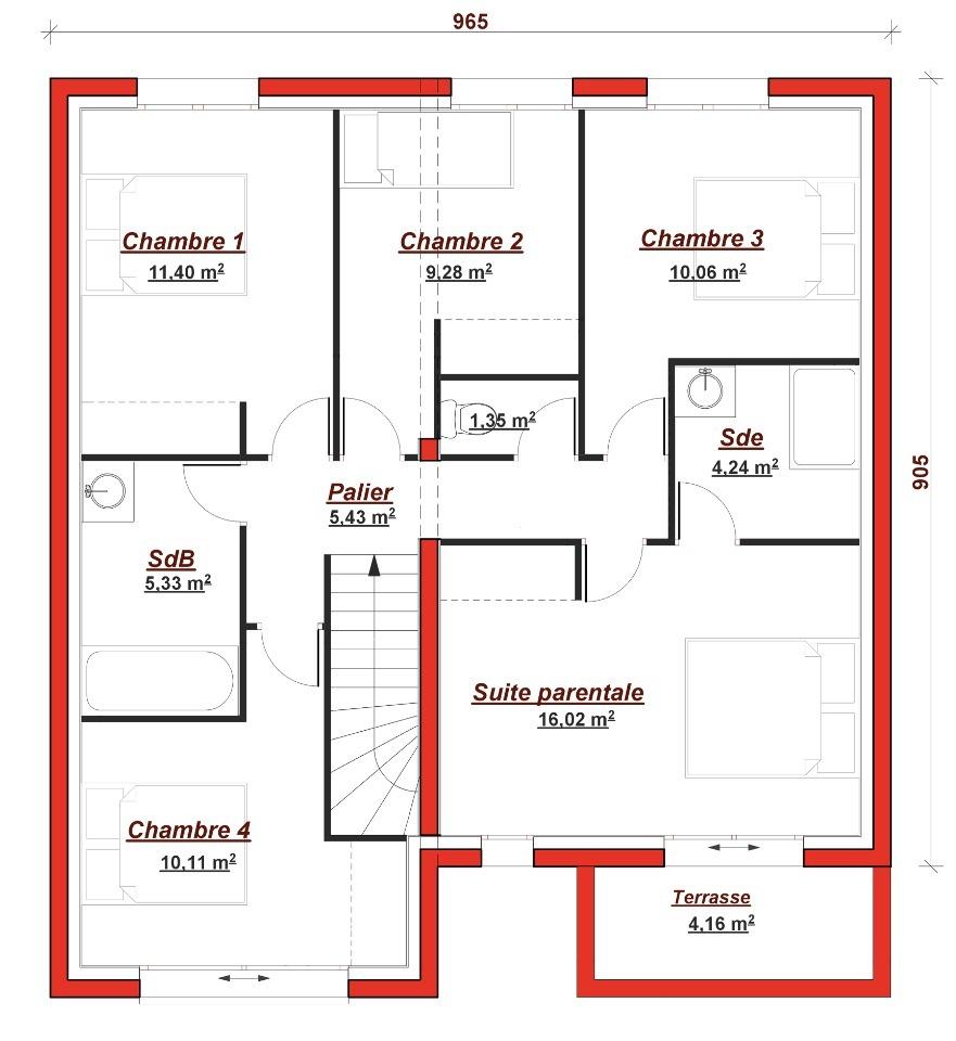 Maison neuve à Verrières-le-Buisson (91370)
