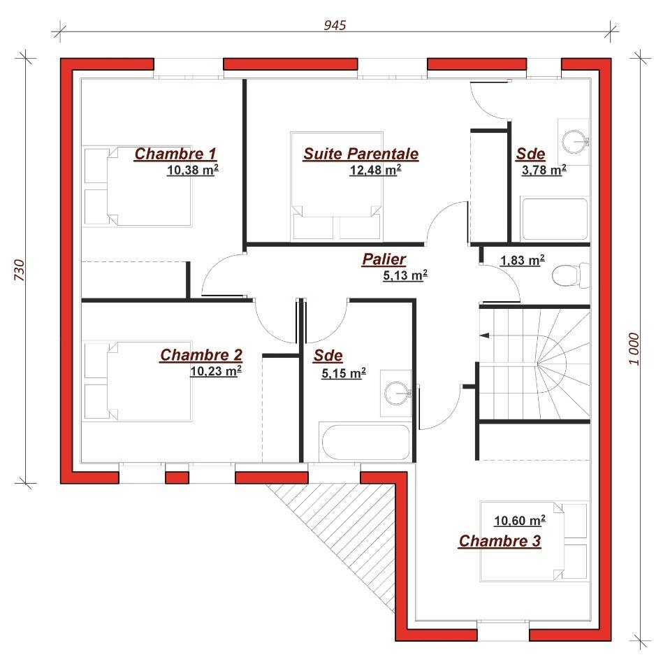 Maison neuve à Villiers-sur-Orge (91700)