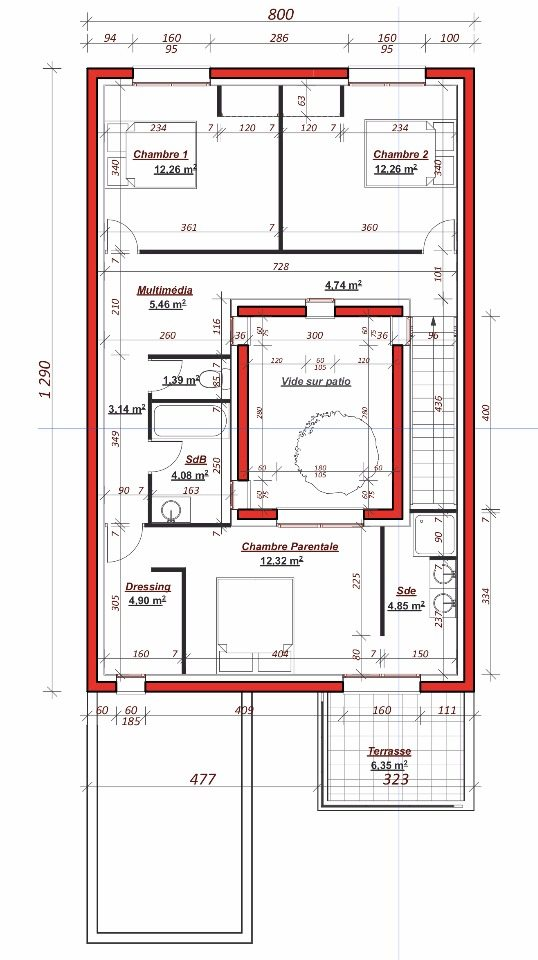 Maison neuve à Vernouillet (78540)