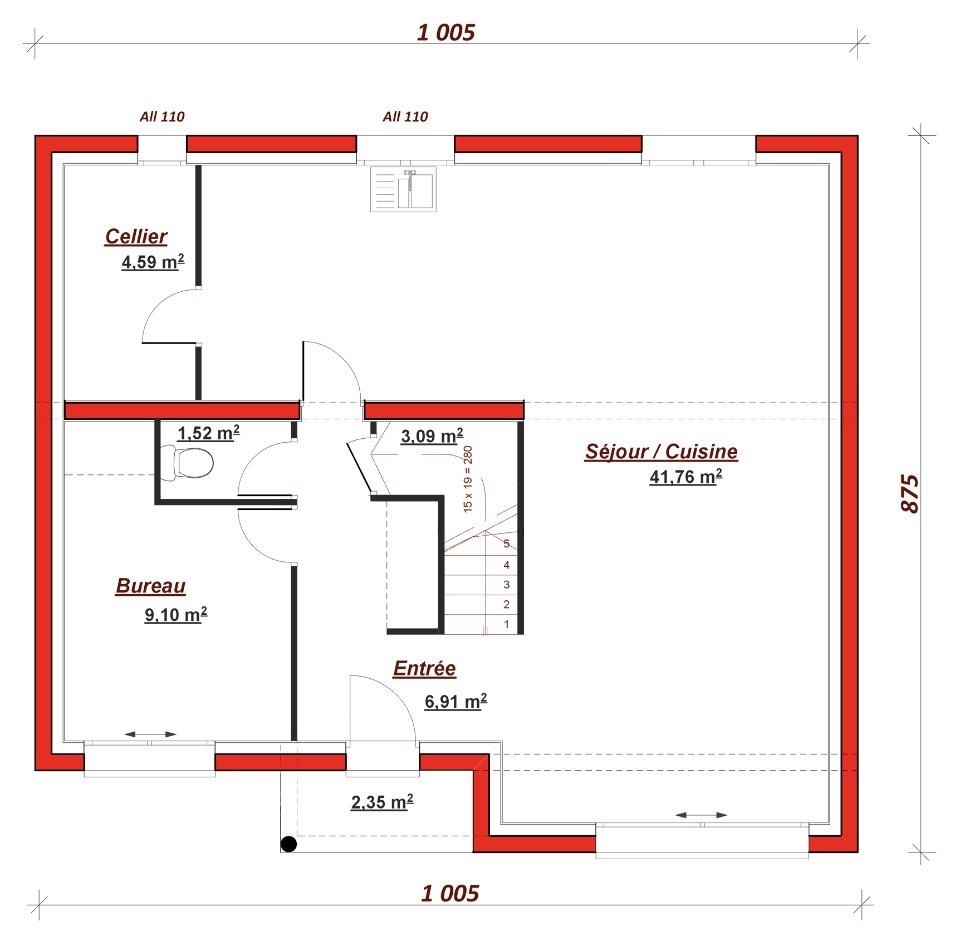 Maison neuve à Morsang-sur-Seine (91250)
