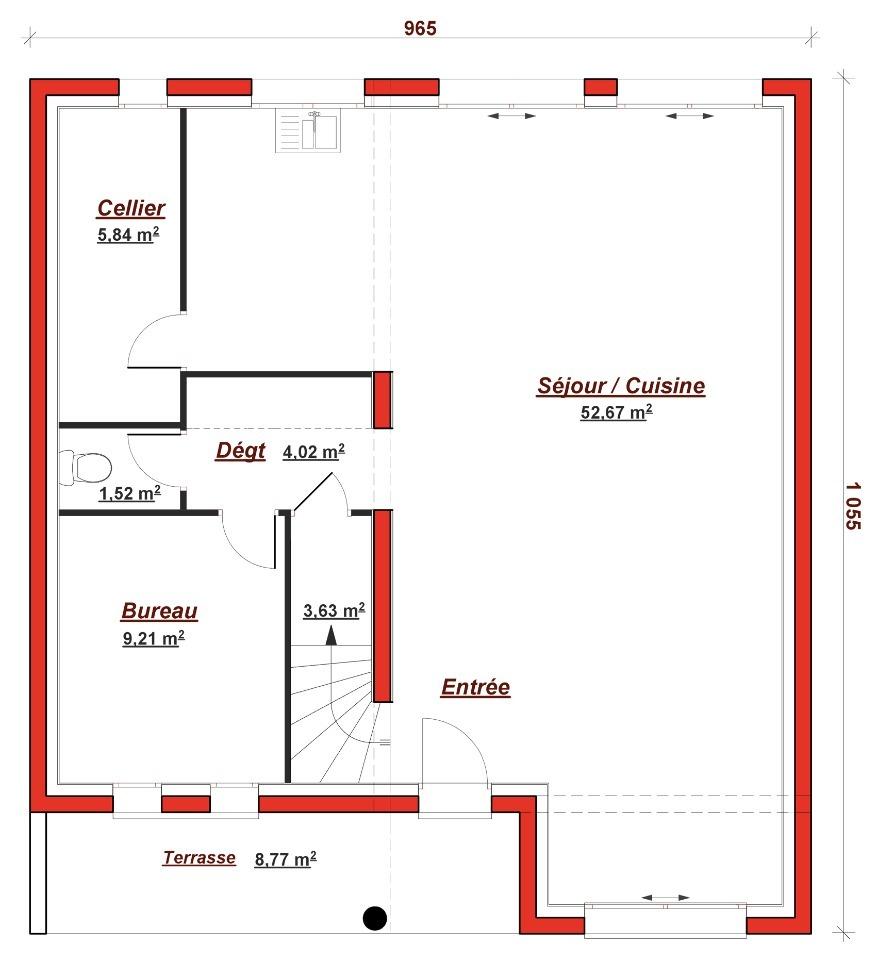 Maison à construire à Grisy Suisnes (77166)