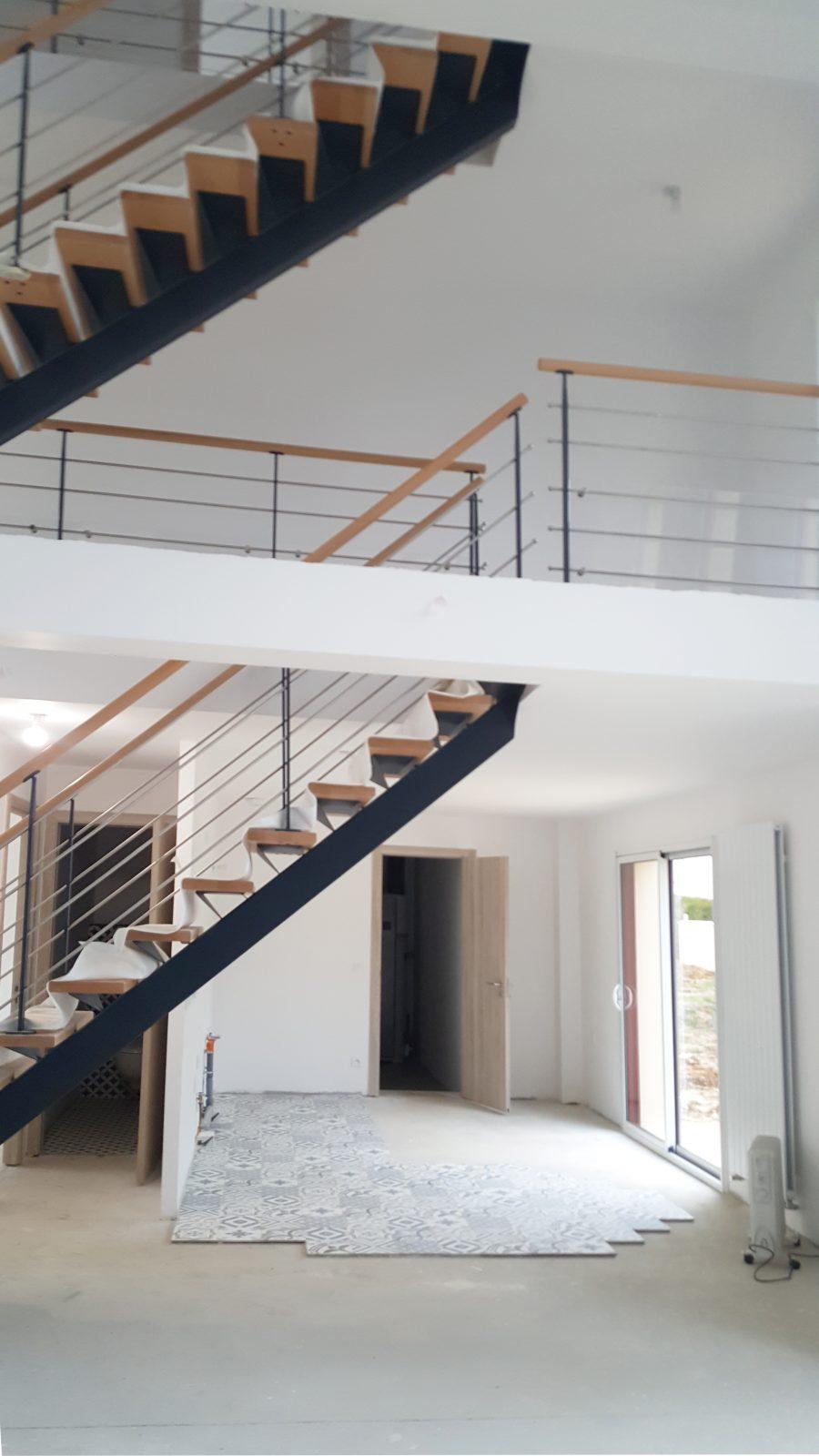 Escalier Val D Oise réalisation d'une maison moderne - rambouillet (78