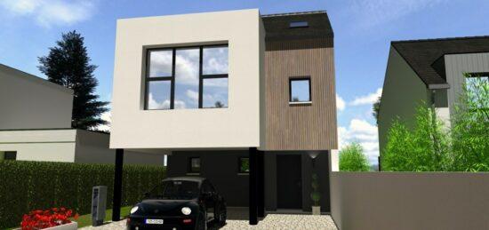 Plan de maison Surface terrain 102 m2 - 4 pièces - 3  chambres -  avec garage  31571-7174modele620210120K697q.jpeg